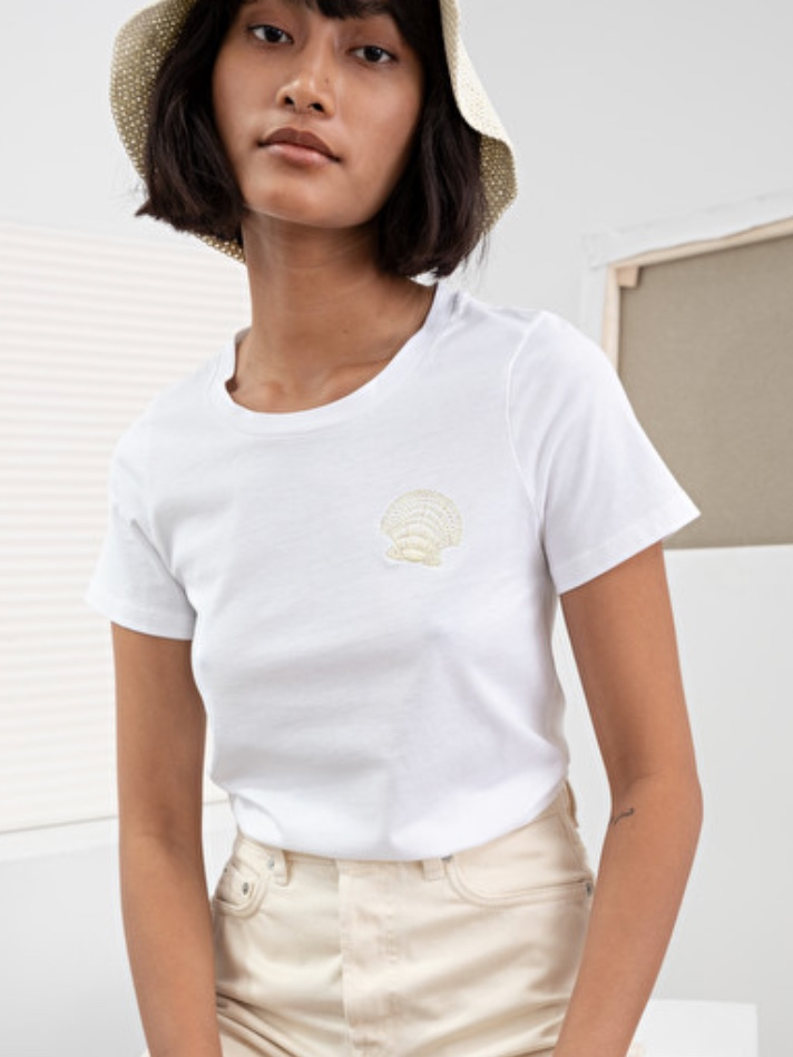 & Other Stories Seashell Embroidered Tee (£23.00)