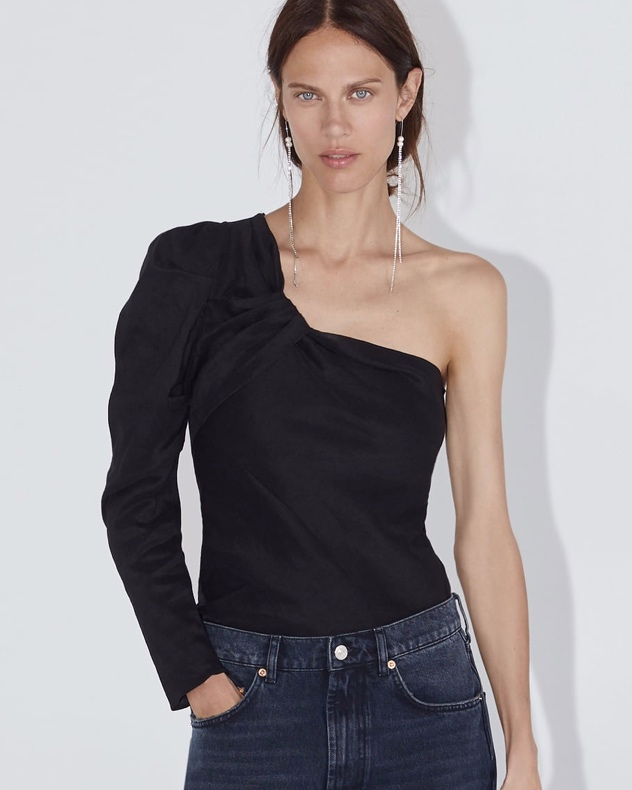 Zara Asymmetric Pleated Top (£29.99)