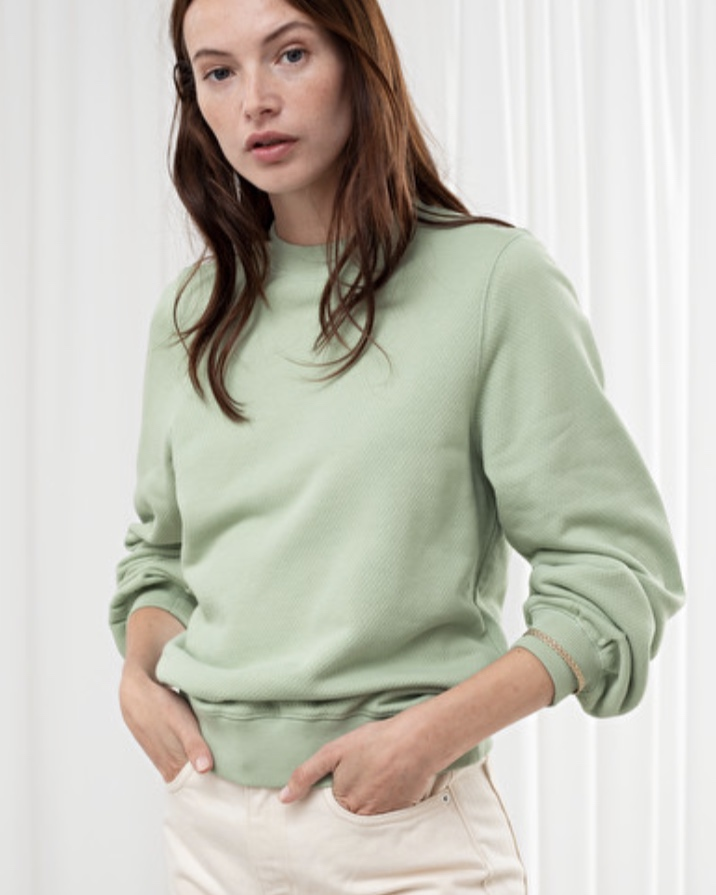 & Other Stories Relaxed Organic Terry Cotton Sweater (£29.00)