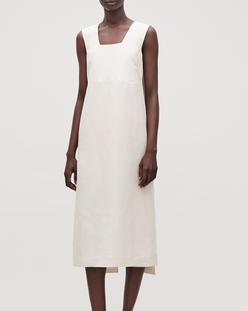 COS Linen-Silk Dress With Back Ties (£150.00)
