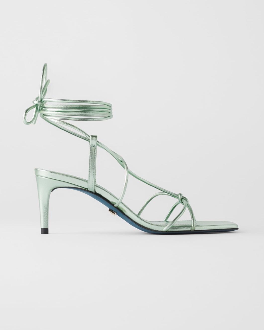 Zara Blue Collection Leather Metallic Mid Heel Shoes (£69.99)