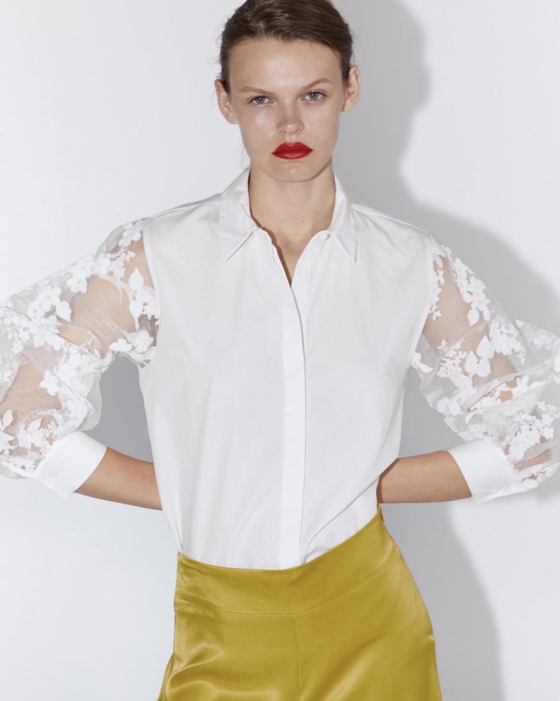 Zara Organza Sleeve Shirt (£25.99)