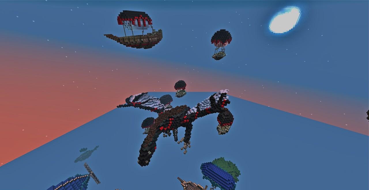 Puncher, Sheldrake, Protea airships and a dragon