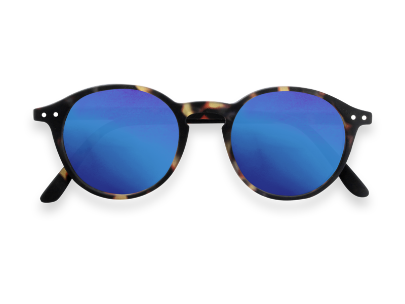 #D TORTOISE BLUE MIRROR LENSES