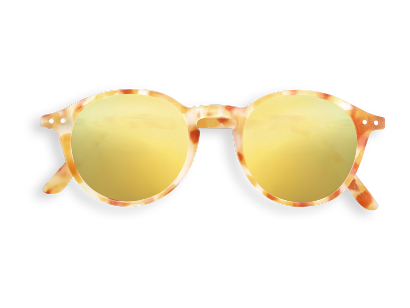 #D YELLOW TORTOISE YELLOW MIRROR LENSES