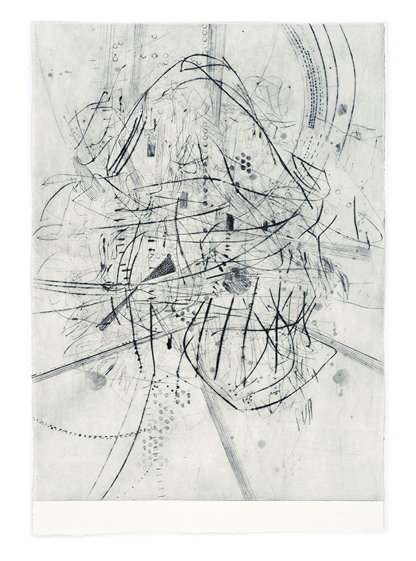 Blush, Small World 2, drypoint engraving, 2016