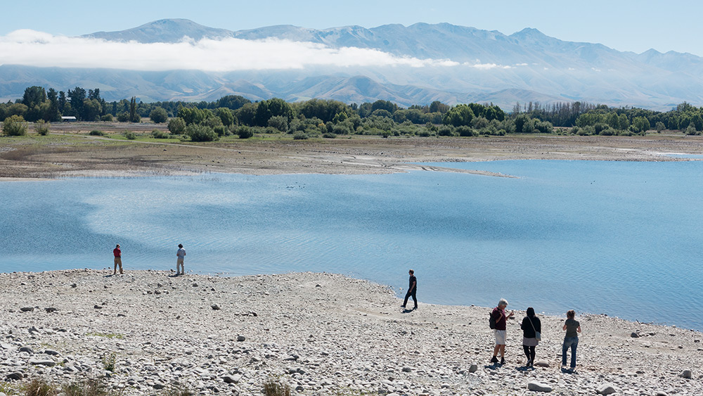 Opuha irrigation lake