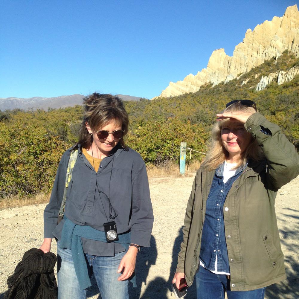 Jenna & Liz, Paritea (clay cliffs near Omarama)