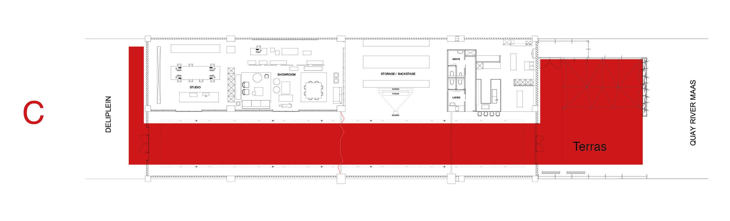 The Arts Club - Loods - Plattegrond - Optie C.jpg