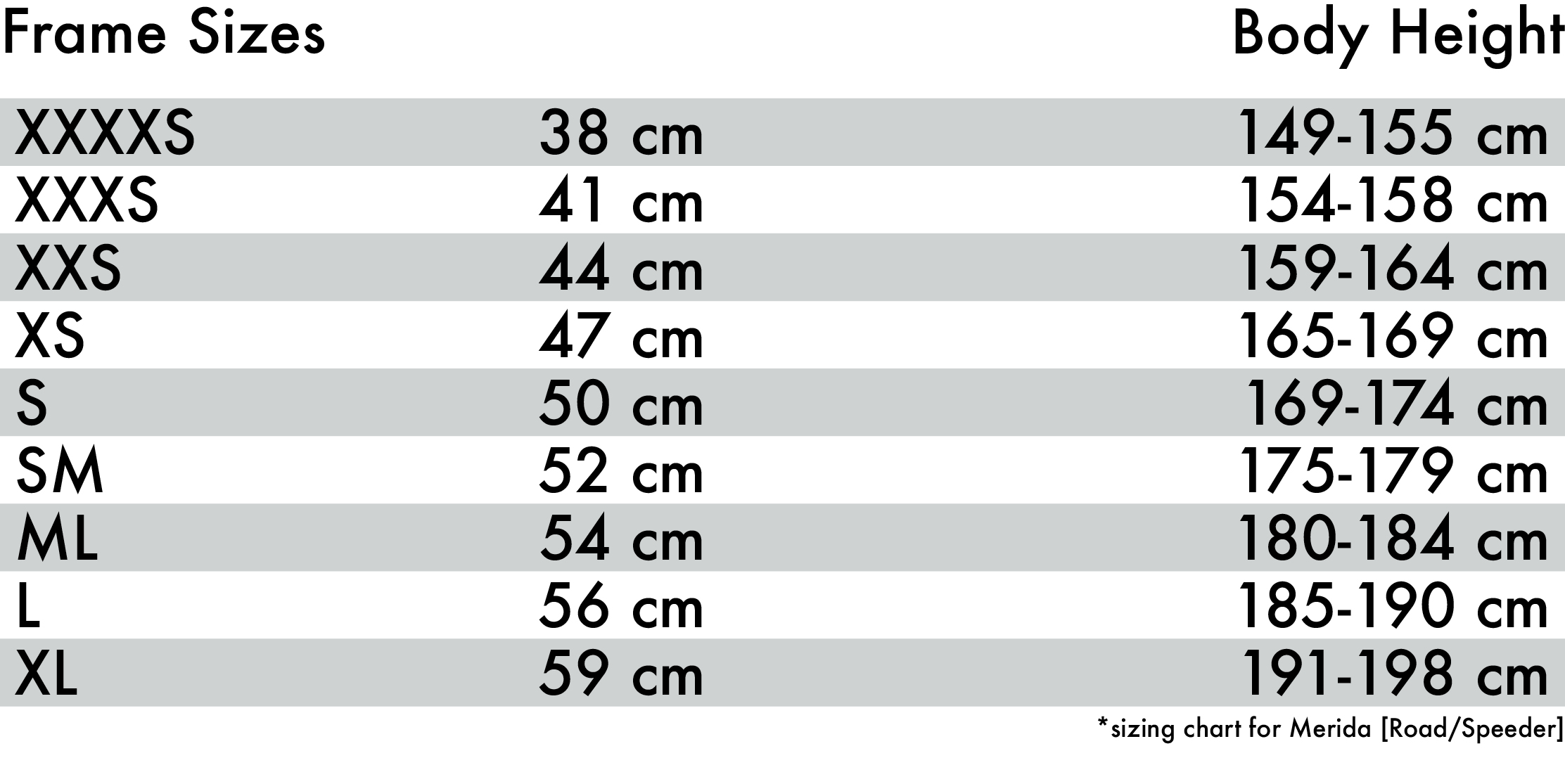 HL Bike Sizing Chart_Merida Road & Speeder.jpg