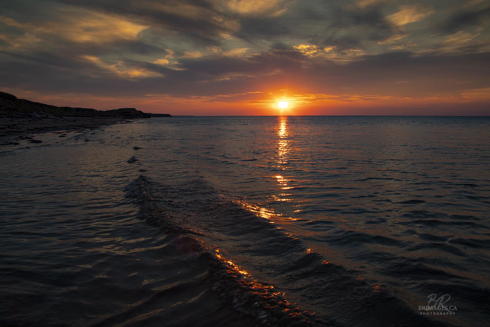 Sunset_PEI_waves_BRimages.ca