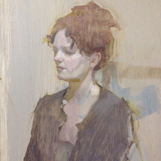 Portrait workshop demo painting