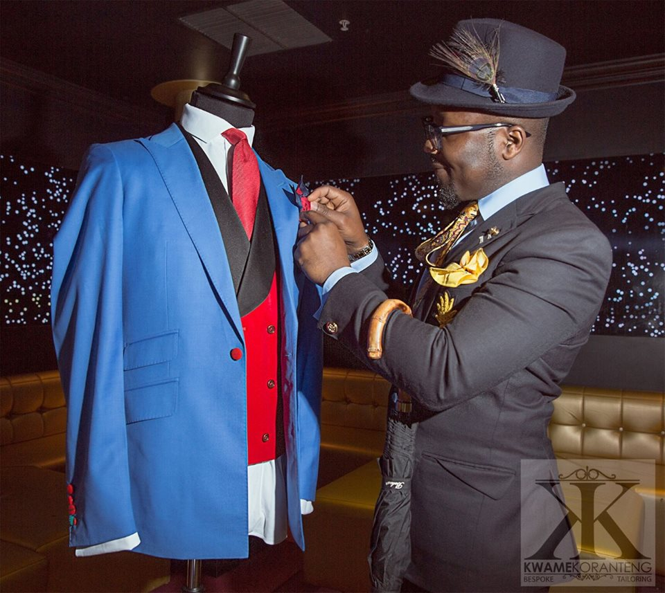 Kwame Koranteng - Kwame Koranteng is a renowned multiple award winning bespoke designer and stylist for men and women based in London. After working for George bespoke Tailors as the head designer, Kwame joined KGTKKT couture in 2009, which is now called Kwame Koranteng Bespoke Tailoring as the head designer and stylist.Kwame Koranteng also creates handmade gentlemen's formal wear accessories on request.In Kwames own words: Mr Kwame said,