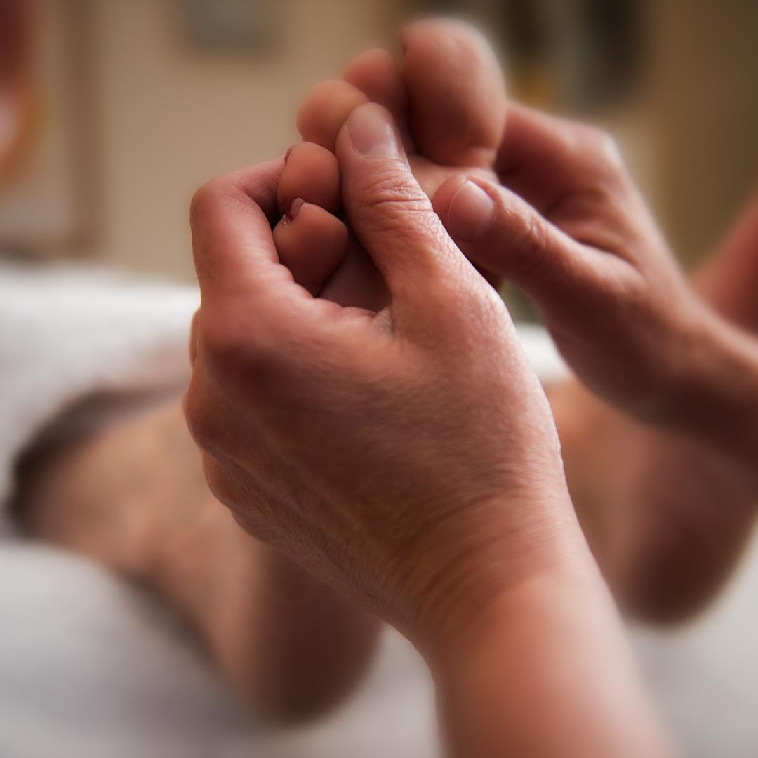Fussreflexzonen-Massage -