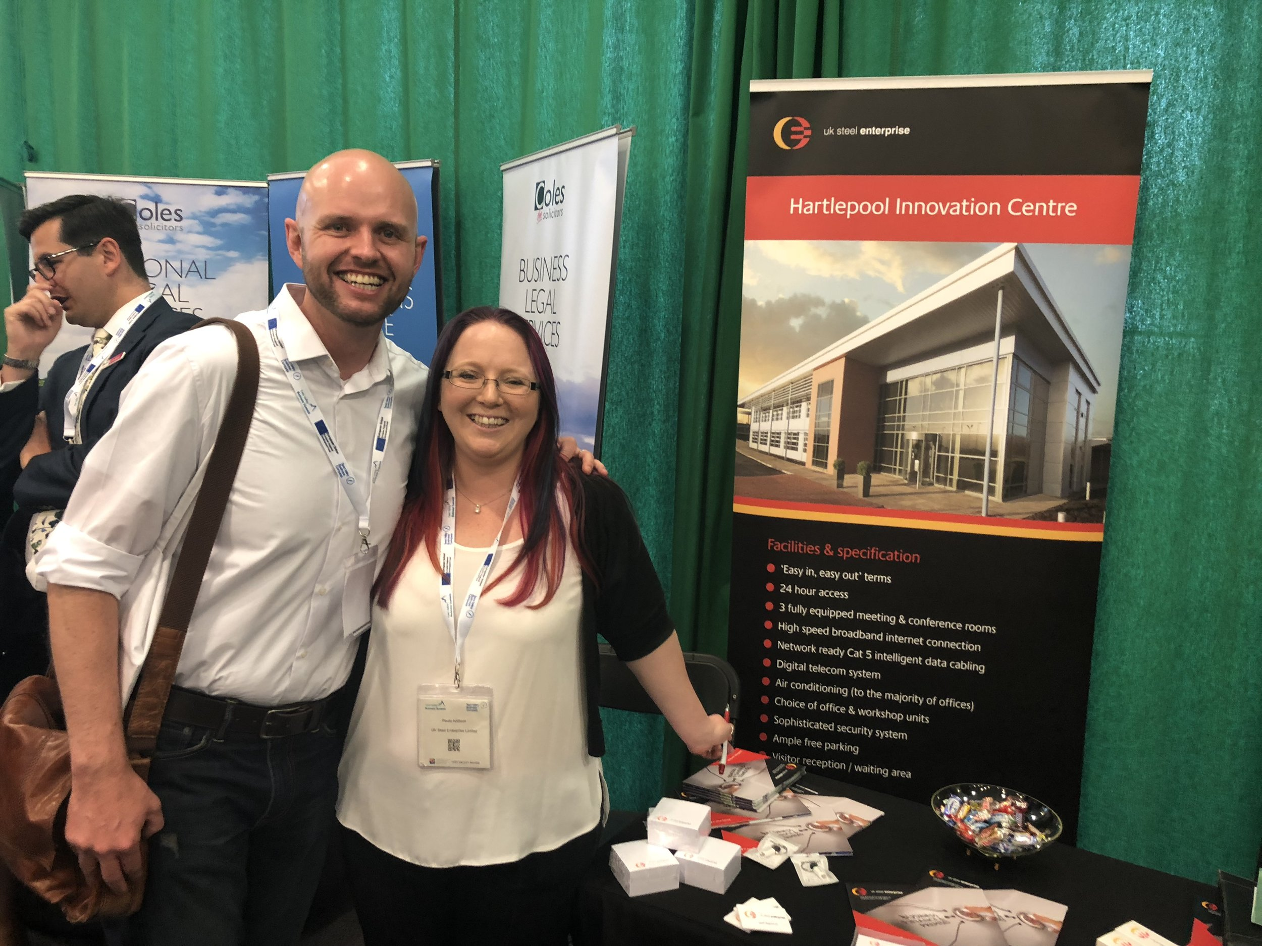 Matt Dowling, Co-Founder, Duco Digital with Paula Addison, UK Steel Enterprise at Tees Valley Business Summit