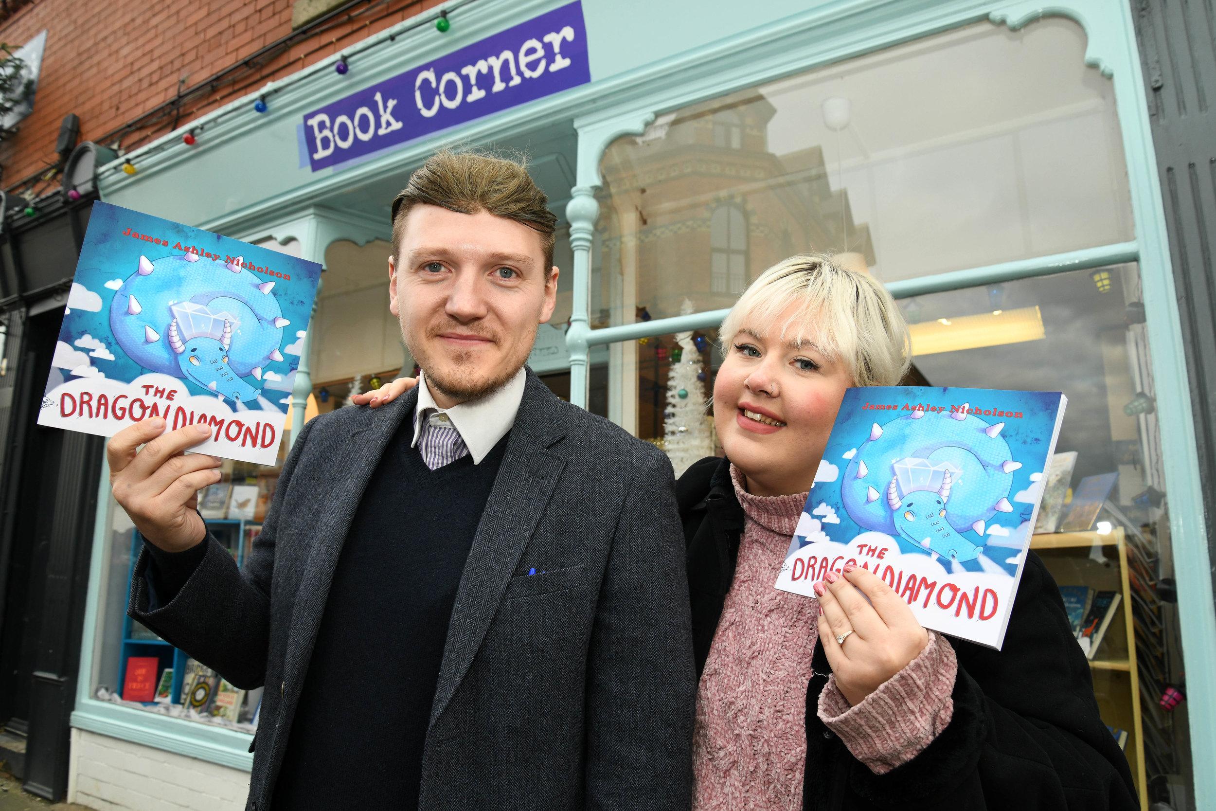 James Nicholson, author of The Dragon Diamond, with illustrator Catherine Kay.