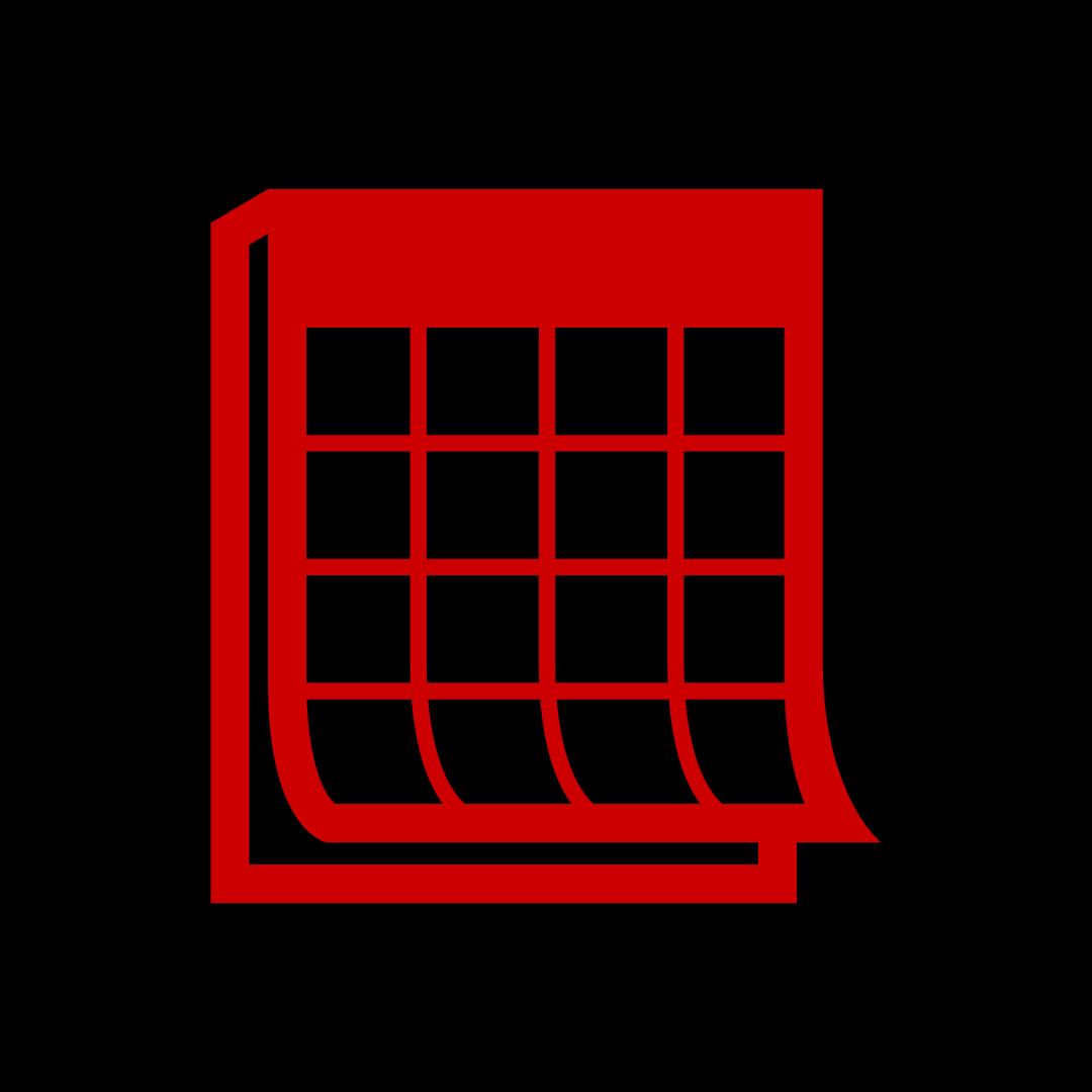 Illustration of red shopping cart on black background