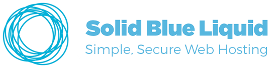 Solid Blue Liquid Web Hosting logo