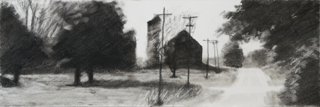 Charcoal Landscape by Kevin Hunter