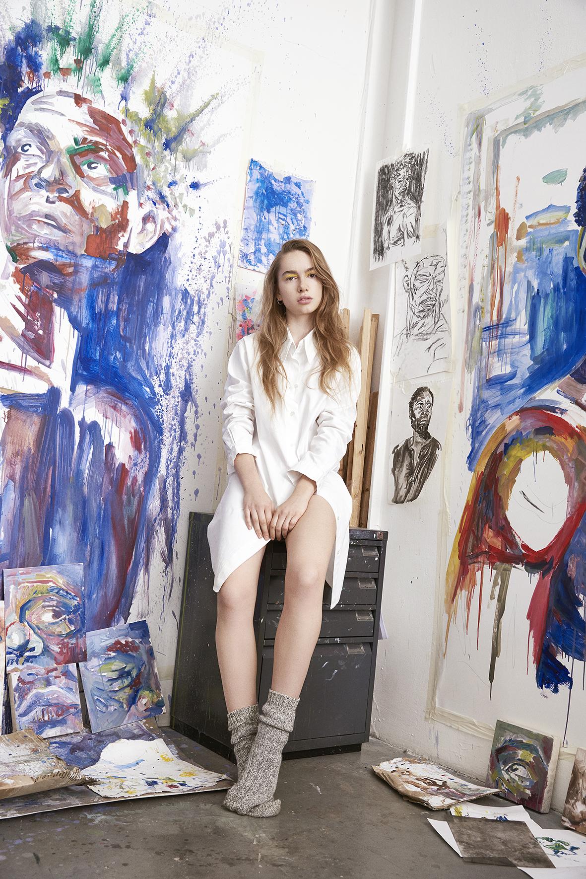 SHIRT DRESS Sophie Pitton, JEWELLERY  Phoebe Simpson