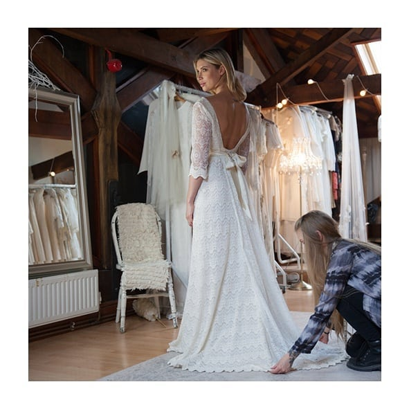 @indiebride.london NEW interview online now! Featuring images of my incredible bespoke wedding dress! #sustainability #weddingdress #bridal #ethicalfashion #london #sustainablefashion #vegan #bespoke