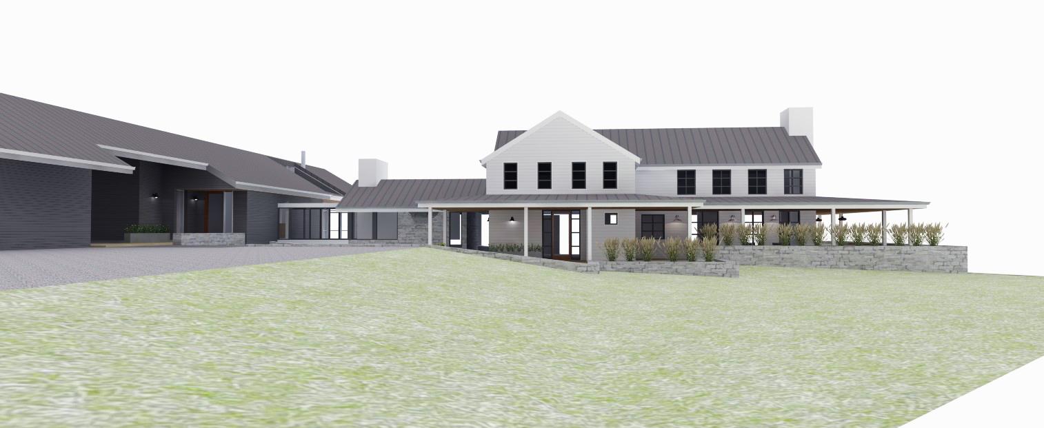 wayback architects toronto Vardegaard Modern farmhouse creemore ontario  - Sister House Elevation.jpg