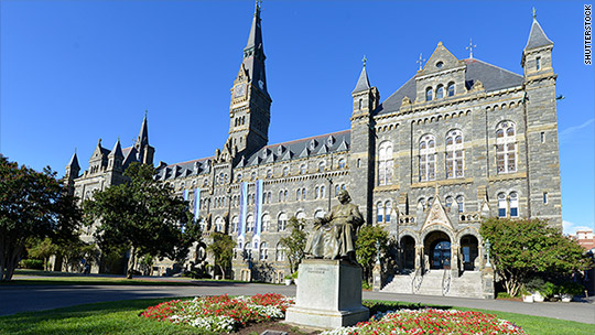 The historical Healy Hall -