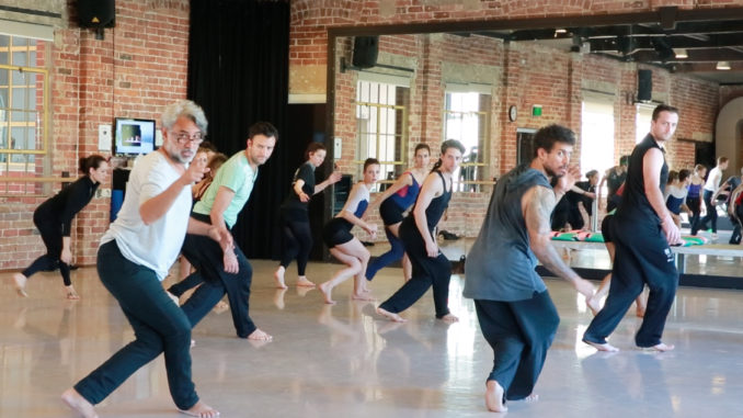 Gary Lang and Dancers of West Australian Ballet rehearsing Milngia Milky Way - River of Stars.