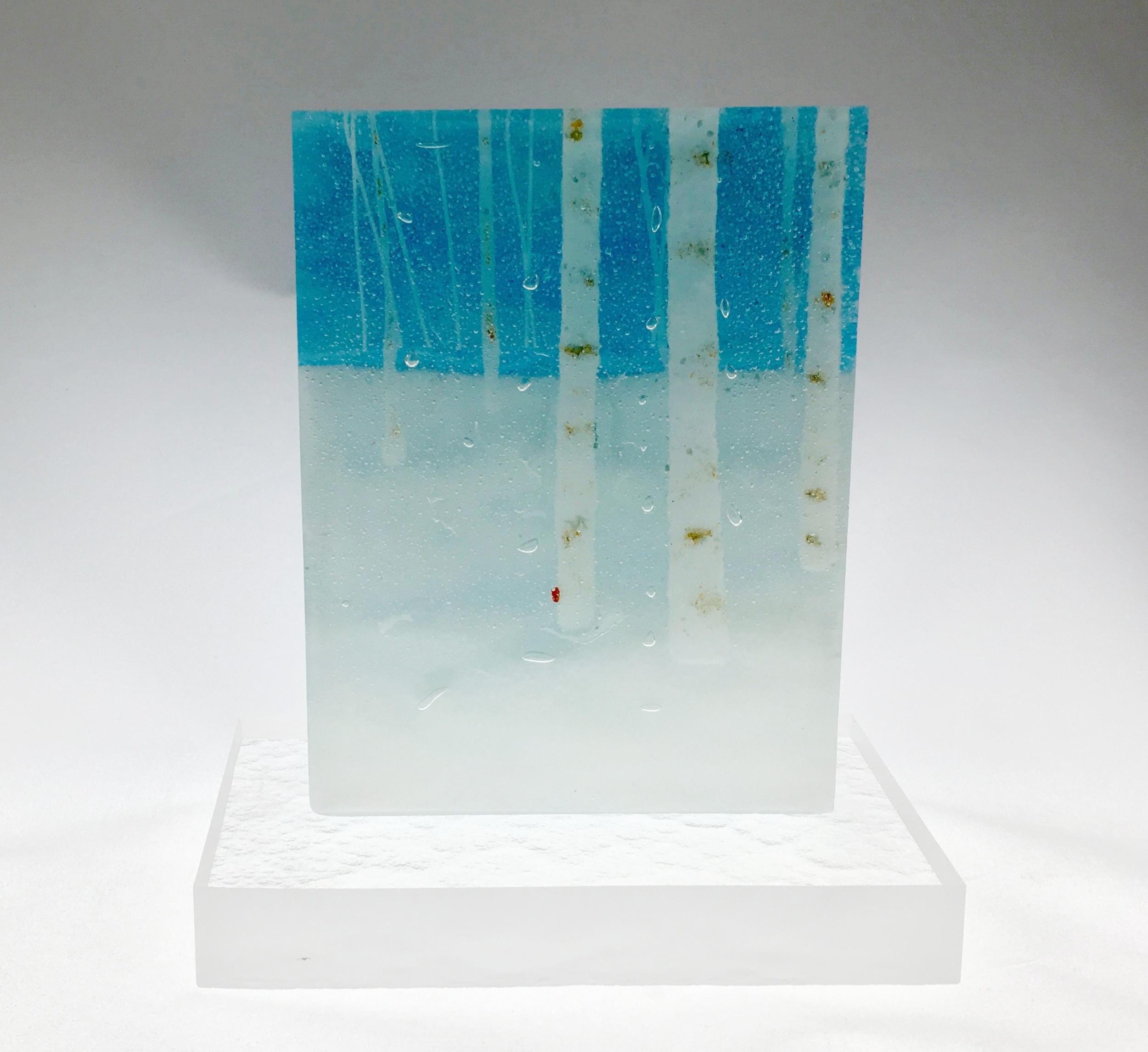 """Birches in Snow - 5 3/4"""" x 4 1/4"""" x 1 3/8"""""""
