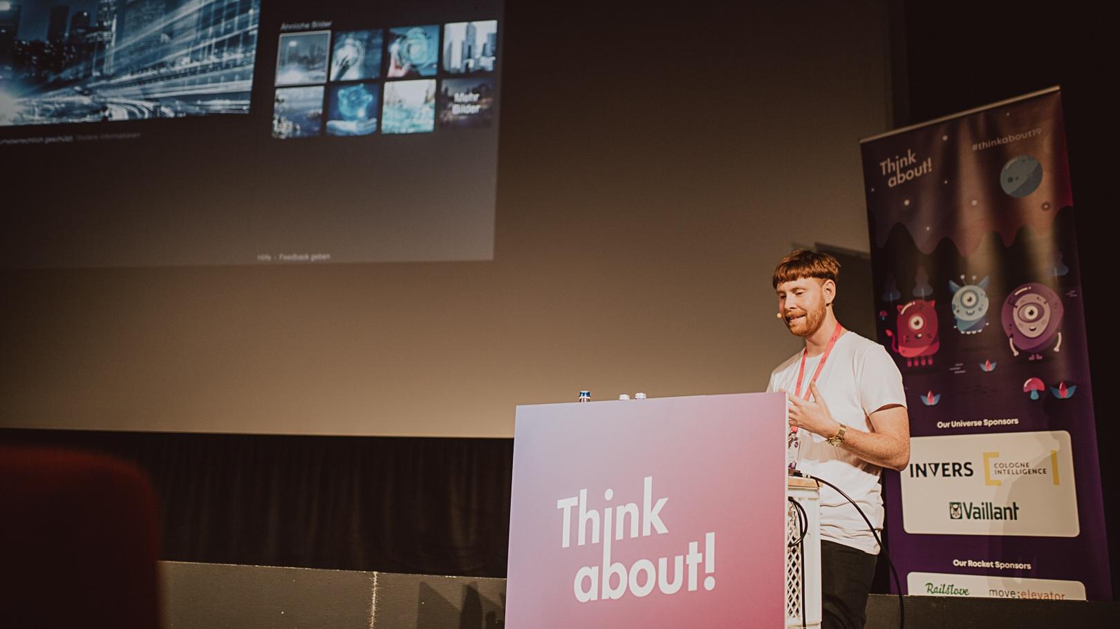 Wilhelms Vortrag auf der Think About! in Köln | Foto von Mimi Vollgraf