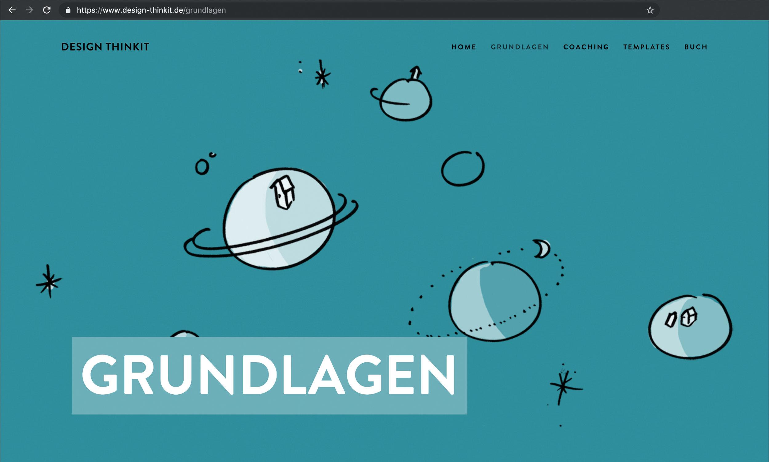 Unterseite Grundlagen des Design Thinkings auf Design-Thinkit.de