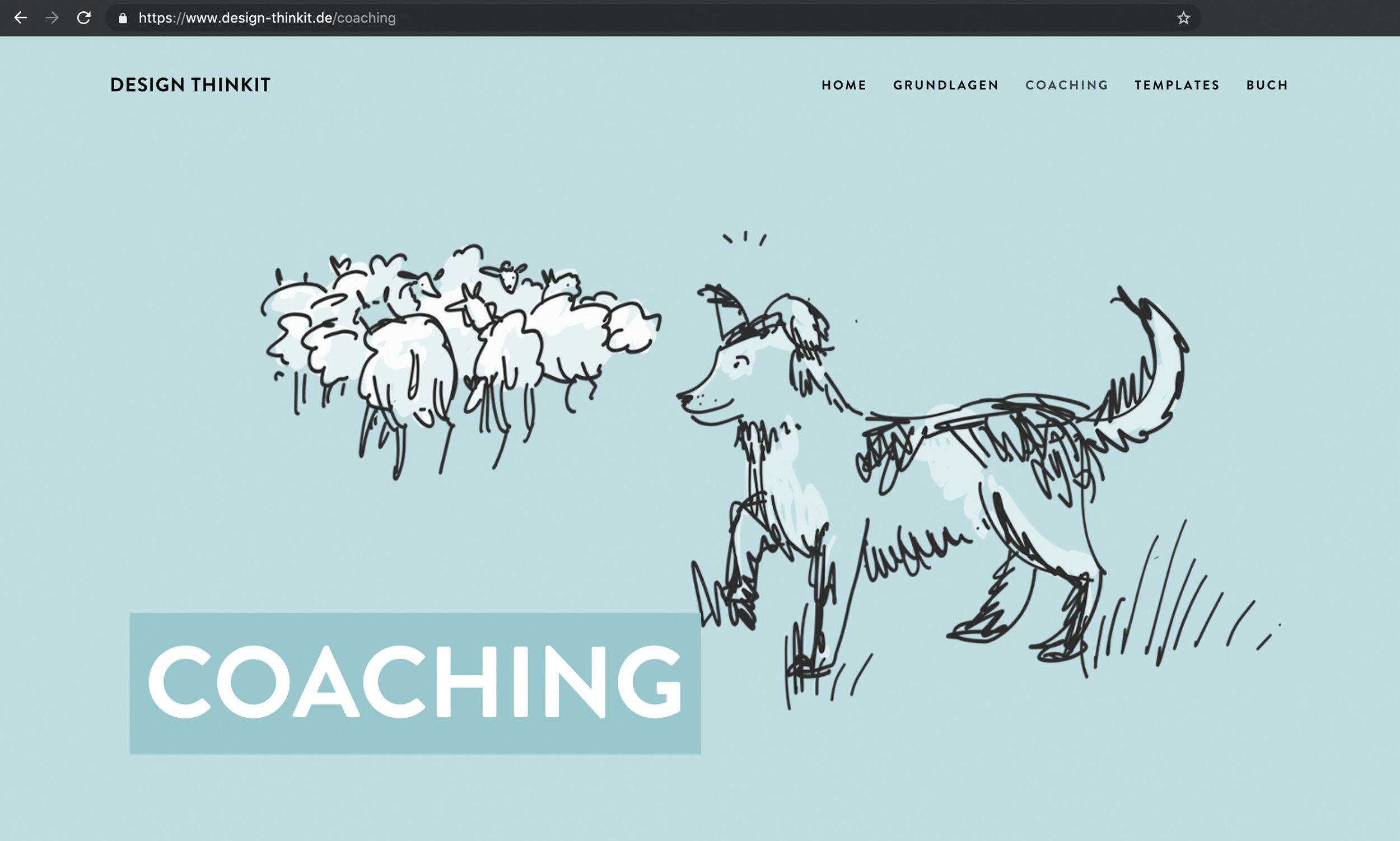 Unterseite Coaching: Design Thinking Coaching Tipps & Infos auf Design-Thinkit.de