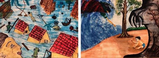 Tsunami Art by children in Sri Lanka, 2006