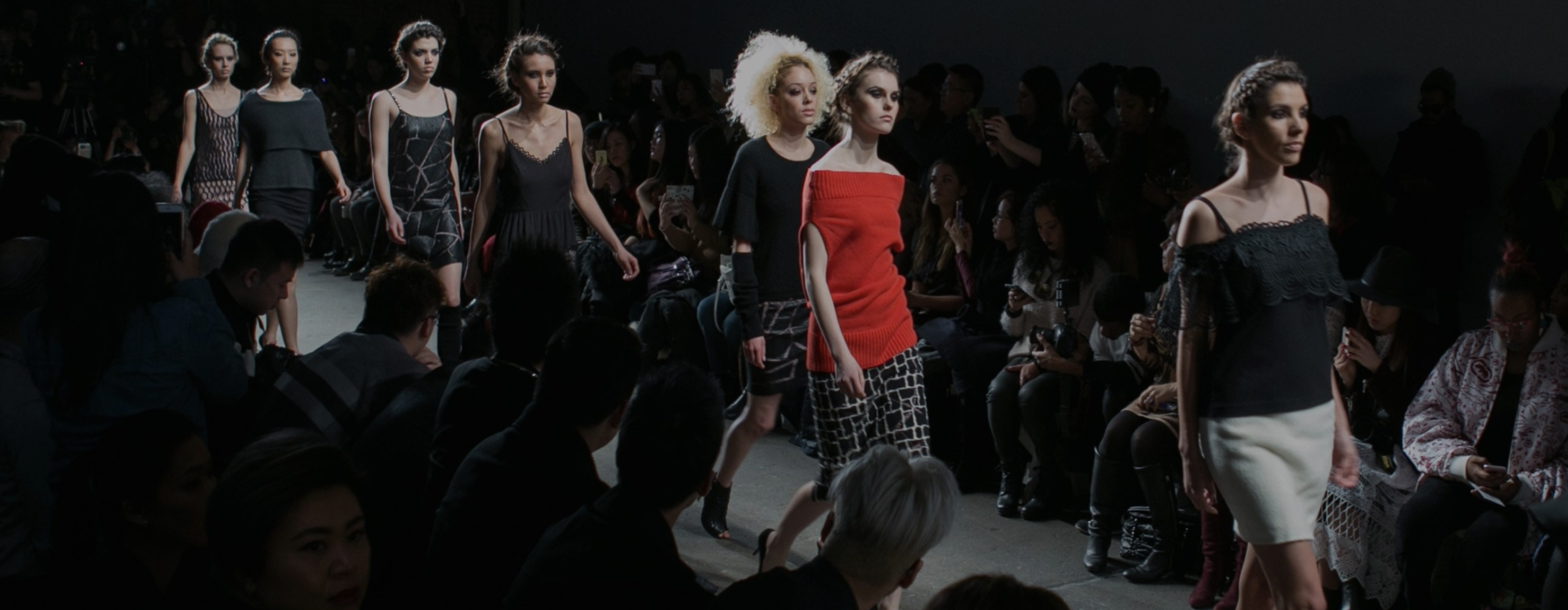 Minan Wong collection in Nolcha show, Fashion Week 2019. Minan Wong is one of several designers who use sustainable fabrics and fair trade production for their collections.