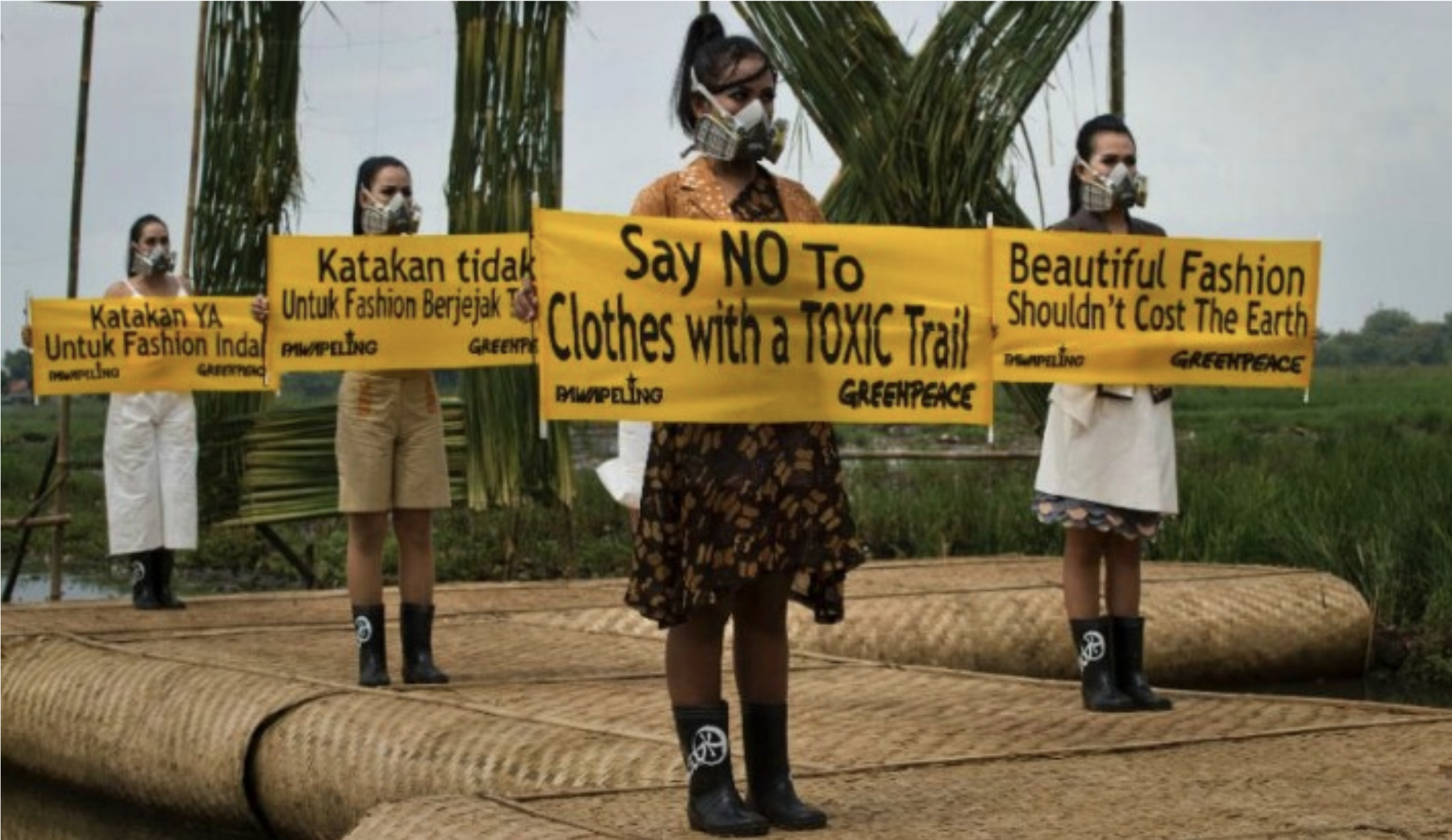 In 2014 Greenpeace organized a catwalk with Indonesian models to protest toxic fashion.