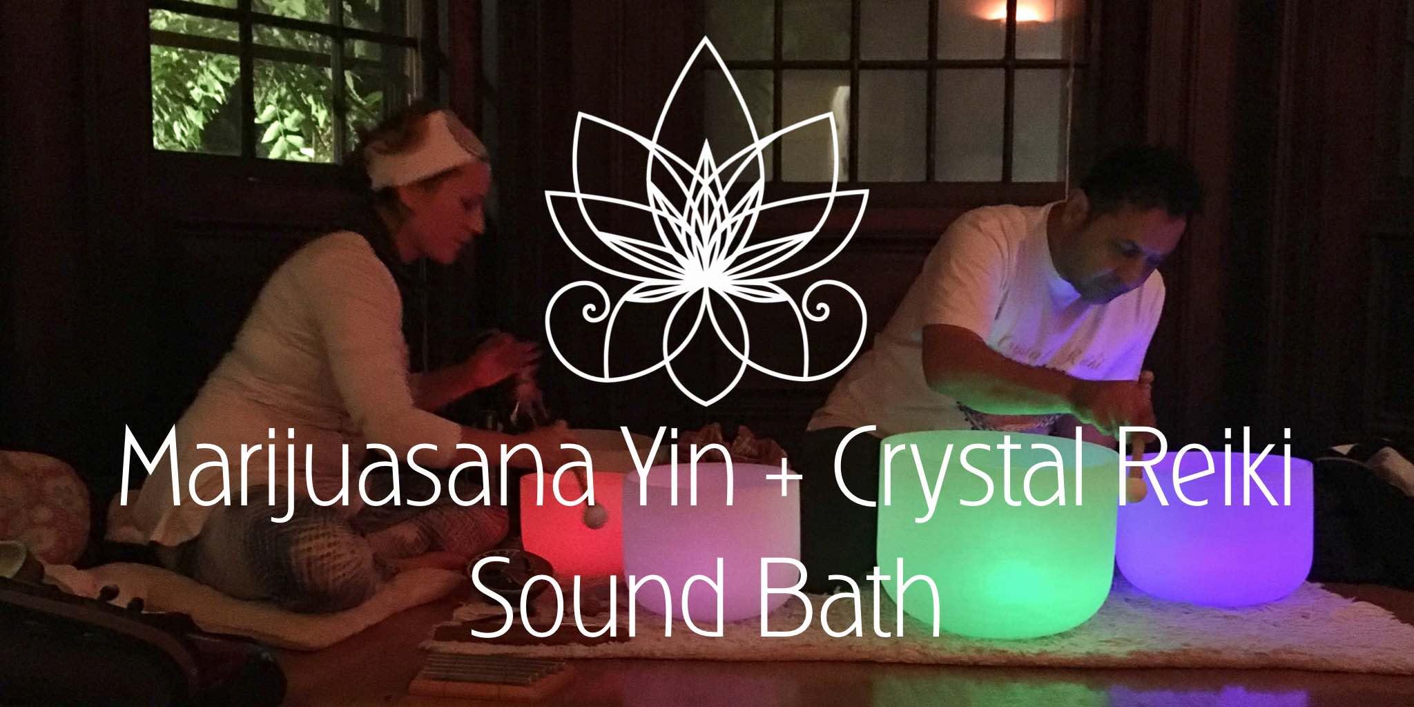Marijuasana Cannabis Yin Crystal Reiki