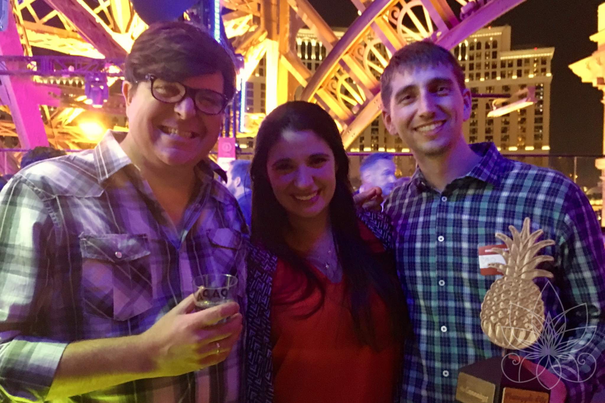 Ricardo Baca with Allie and Chris McAboy of The Novel Tree