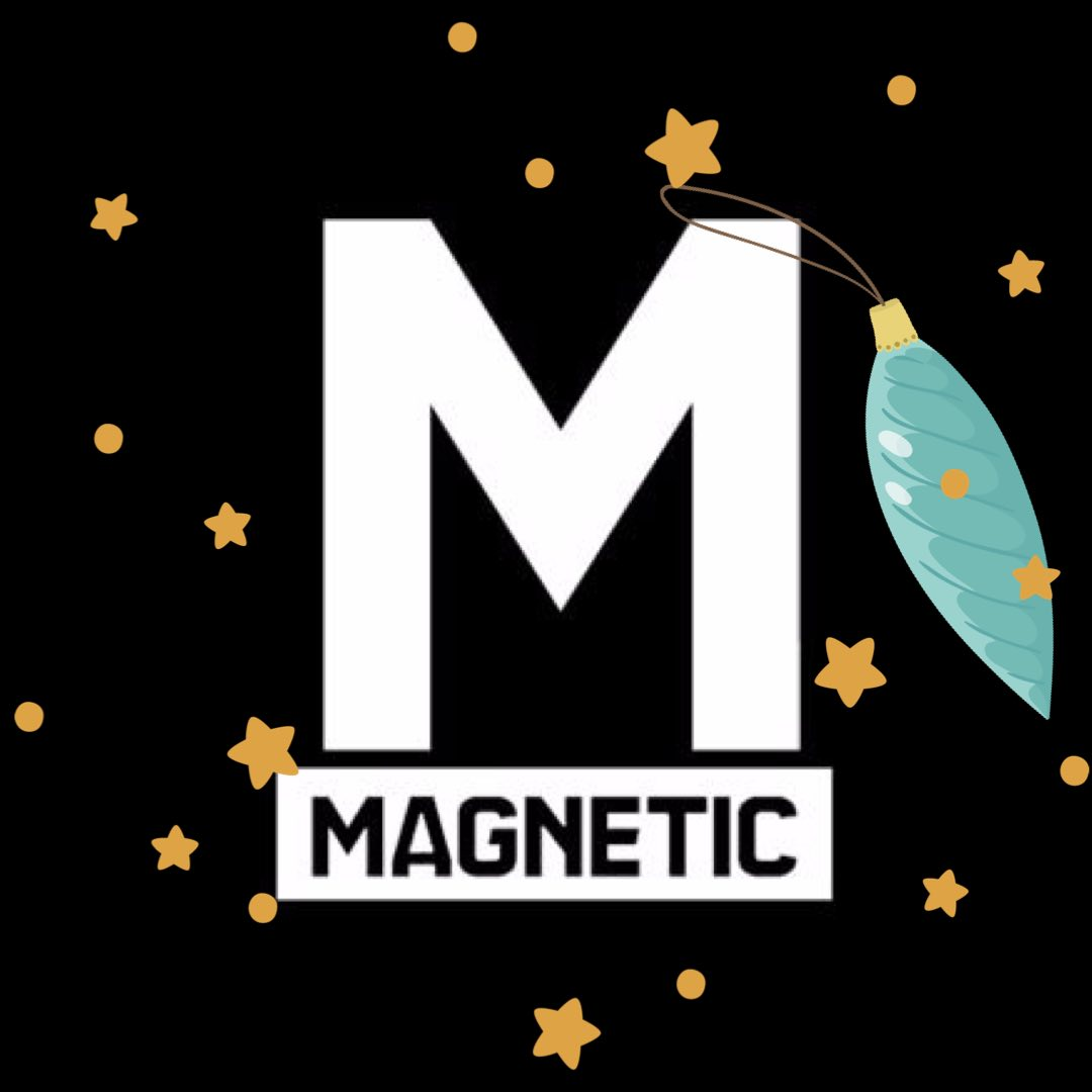 Magnetic Mag Logo with Stars and Lights
