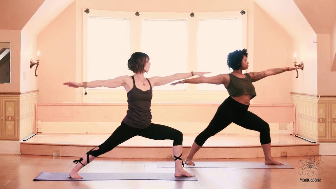 Yoga videos and yoga poses taught by Stacey Mulvey.