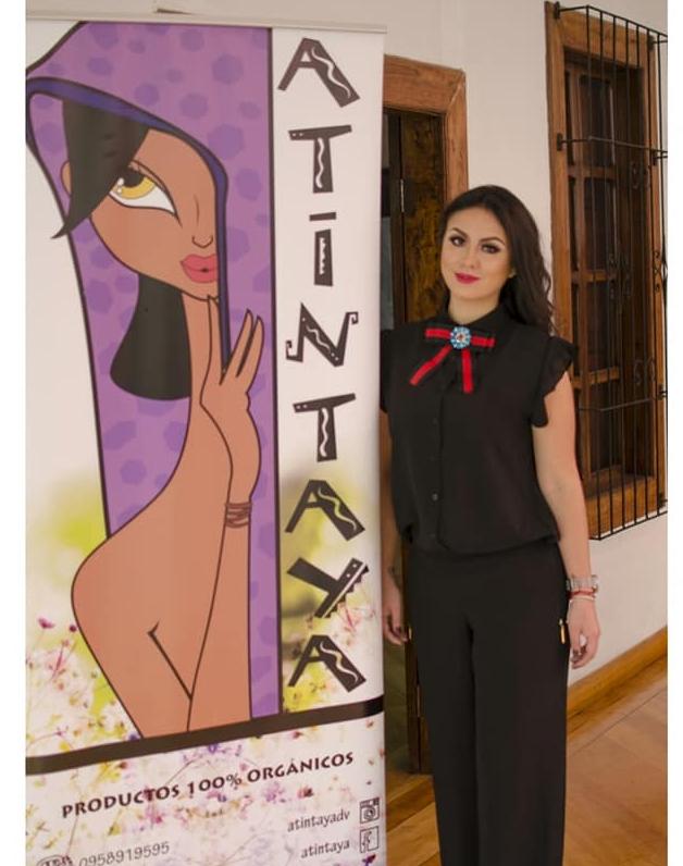 Daniela Villacreces,creadora de ATINTAYA