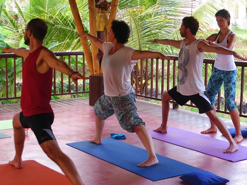 Fotografía: Pablo durante su profesorado en Bali
