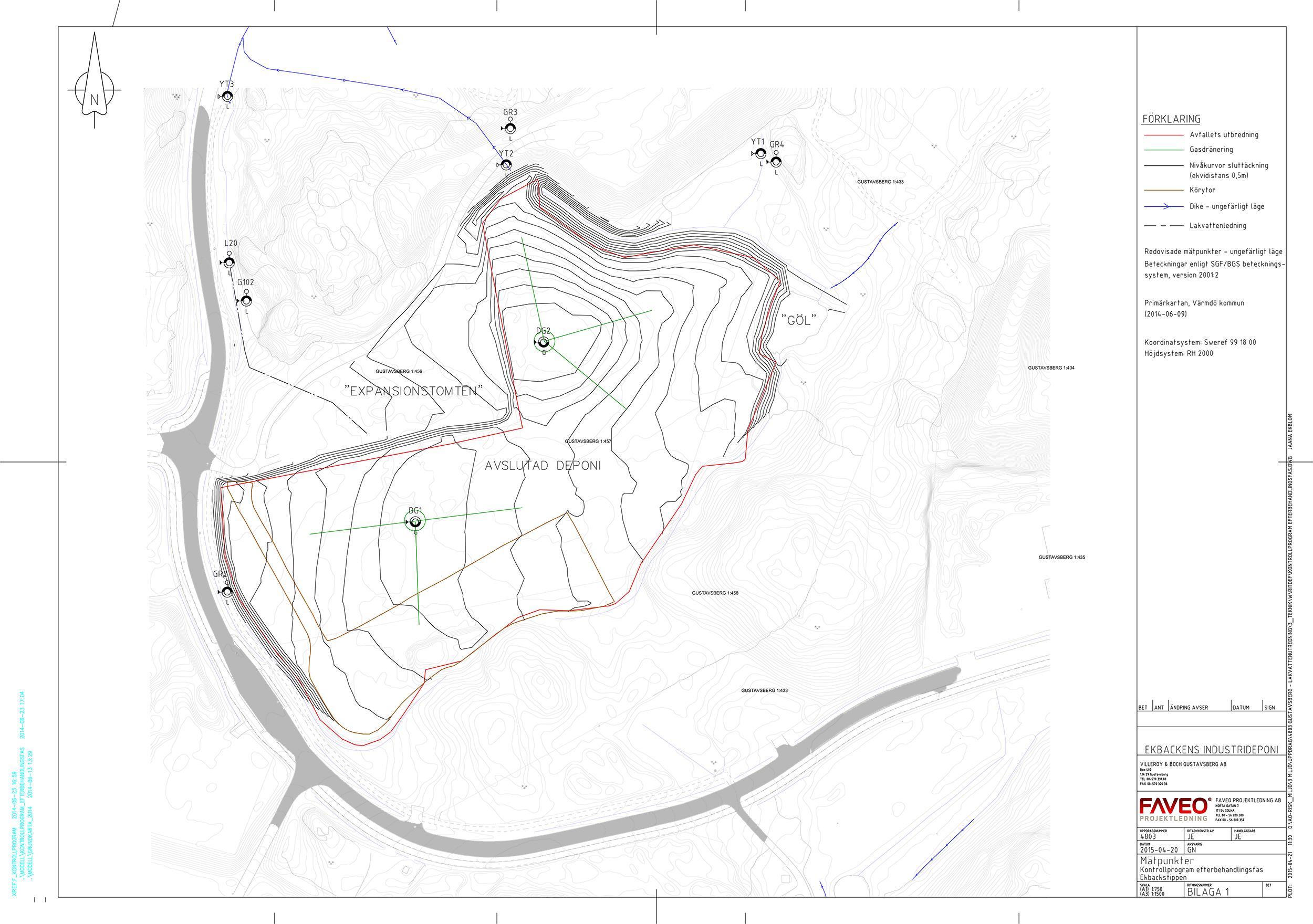 Situationsplan provtaningspunkter och diken + väg 2500.jpg