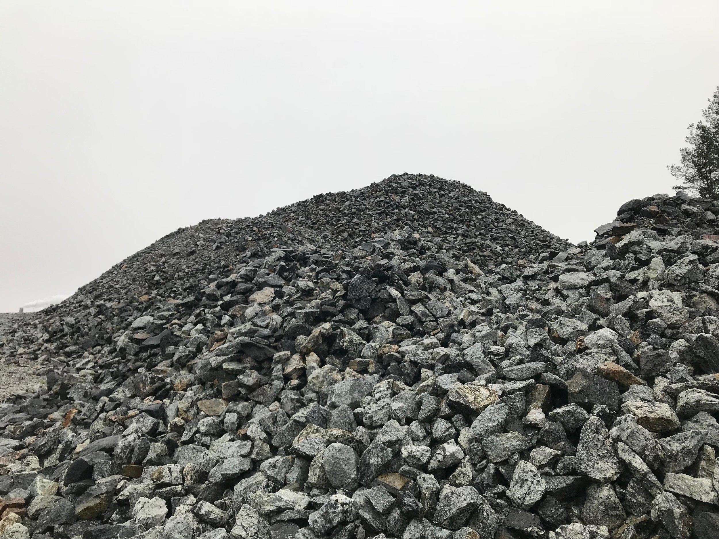 JM:s berg av krossad sulfidmineral vid Ekobacken.
