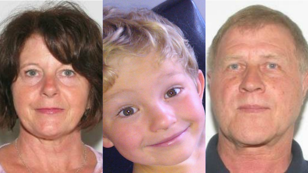 Kathy Likness, Alvin Likness and their grandson Nathan O'Brien (5 years old) were murdered by Douglas Garland. Image courtesy of CBC.