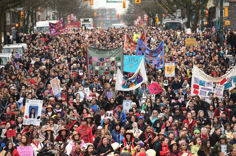 Each year, the women of the downtown eastside march.