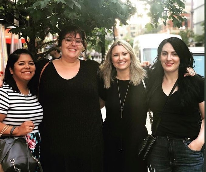 Dinner with Lanie from True Crime Fan Club, Colleen from MIsconduct, Jillian from Court Junkie