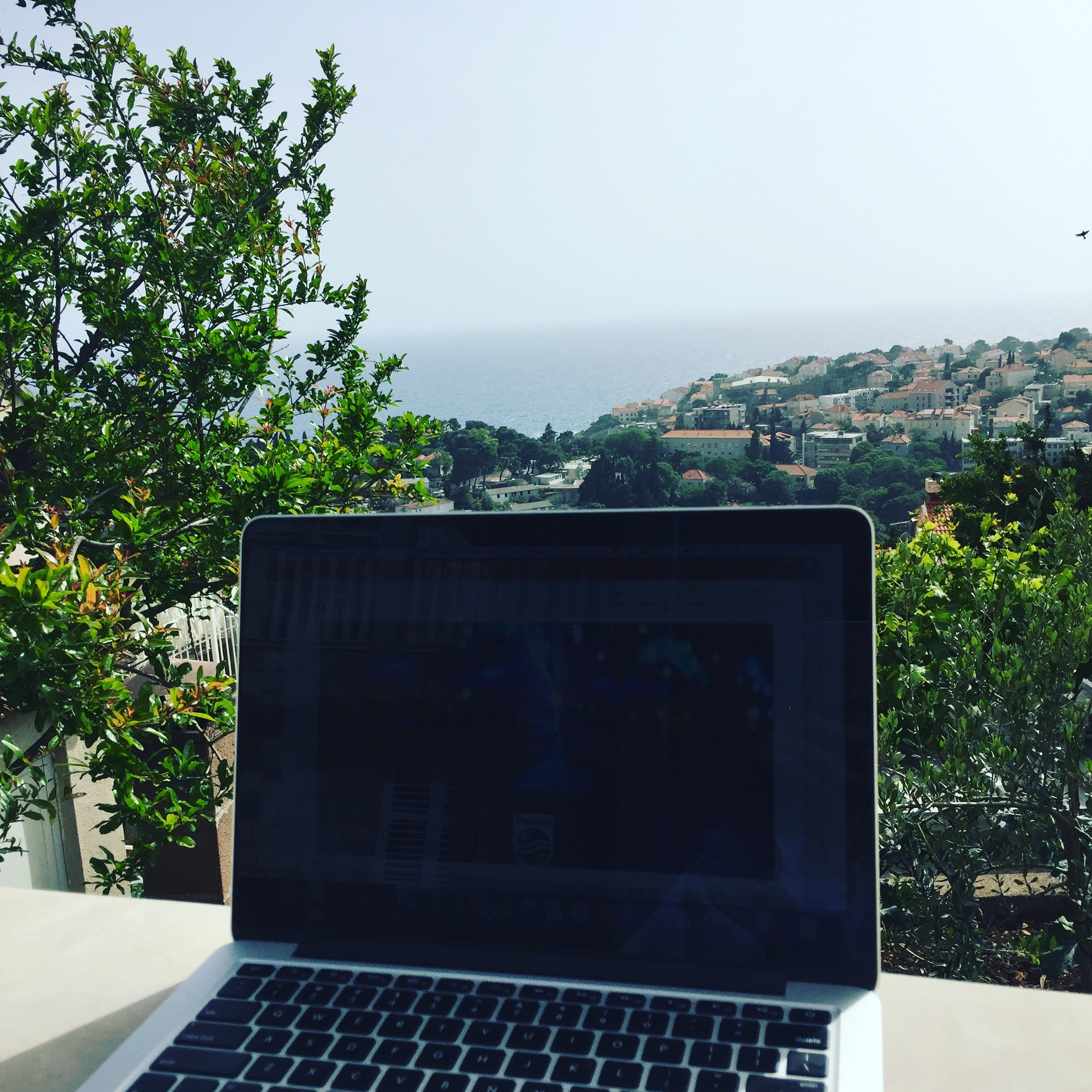 Working from an AirBnB in Dubrovnik