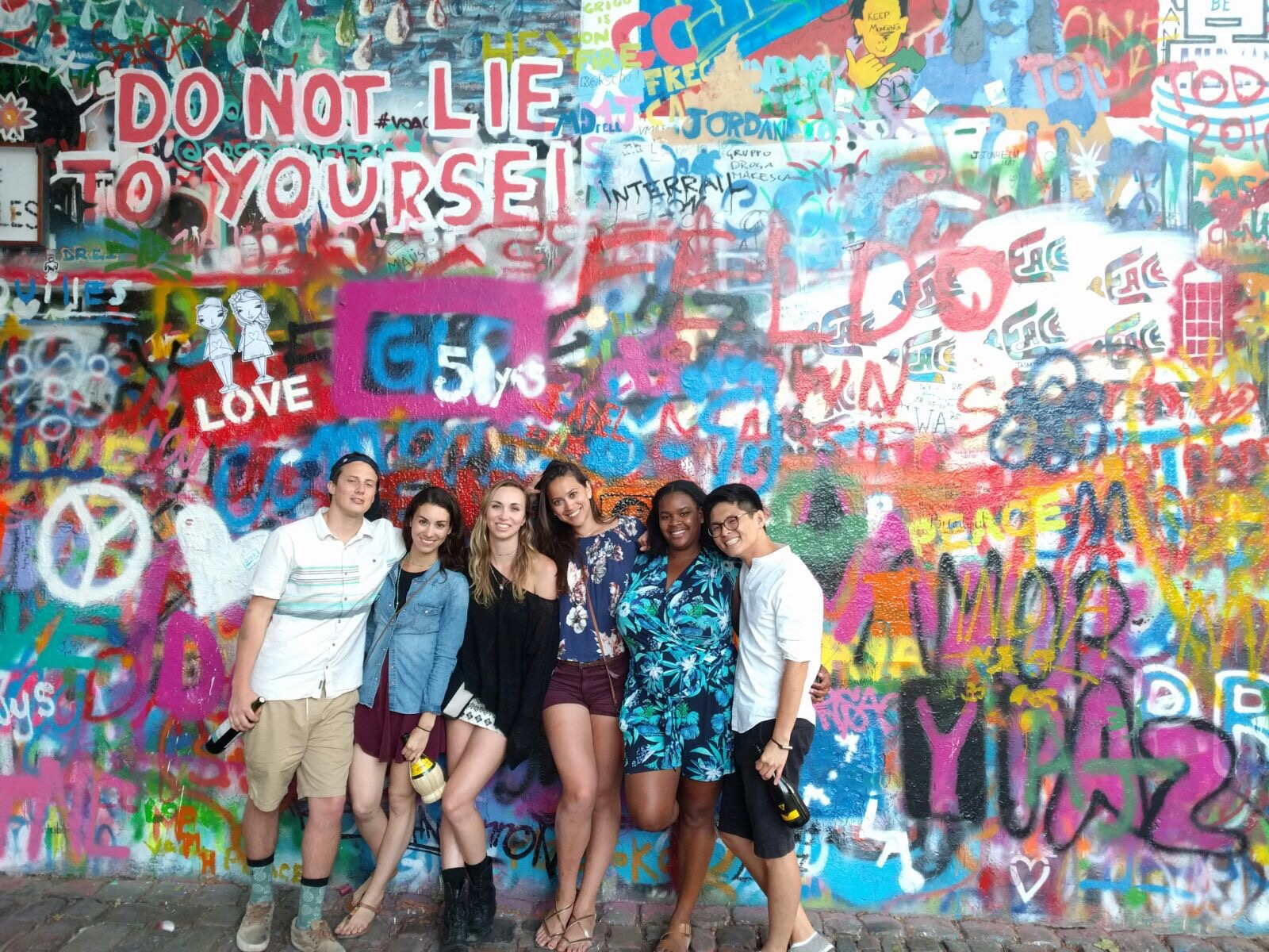 The John Lennon wall was a significant symbol for those against the Communist regime in Prague, and today continues to be a place of ever-changing graffiti. It also exudes feelings of love against war, a fitting sentiment for our group this month.