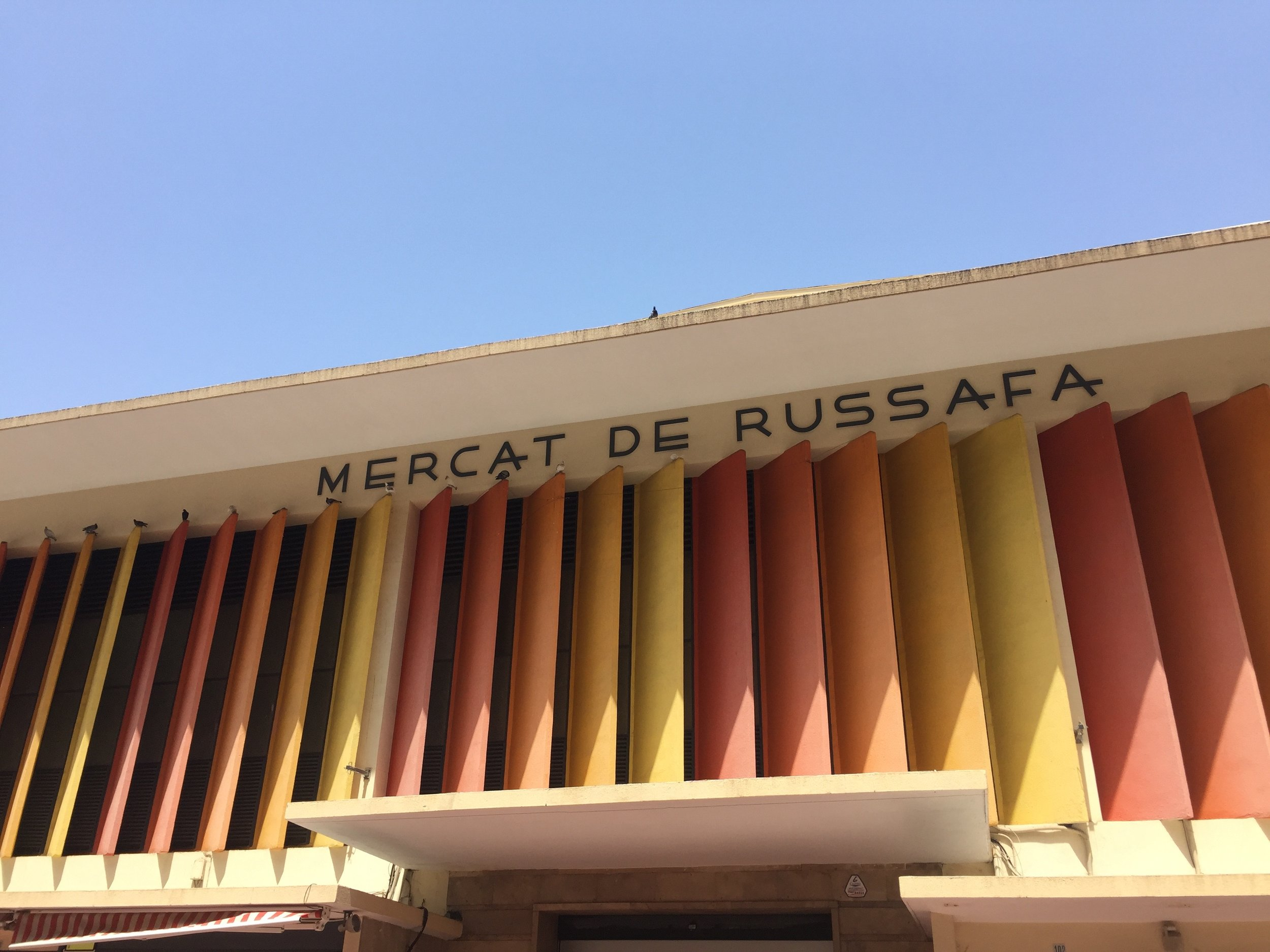 Mercat de Russafa - one of the main markets - we bought our supplies here before going to cook!