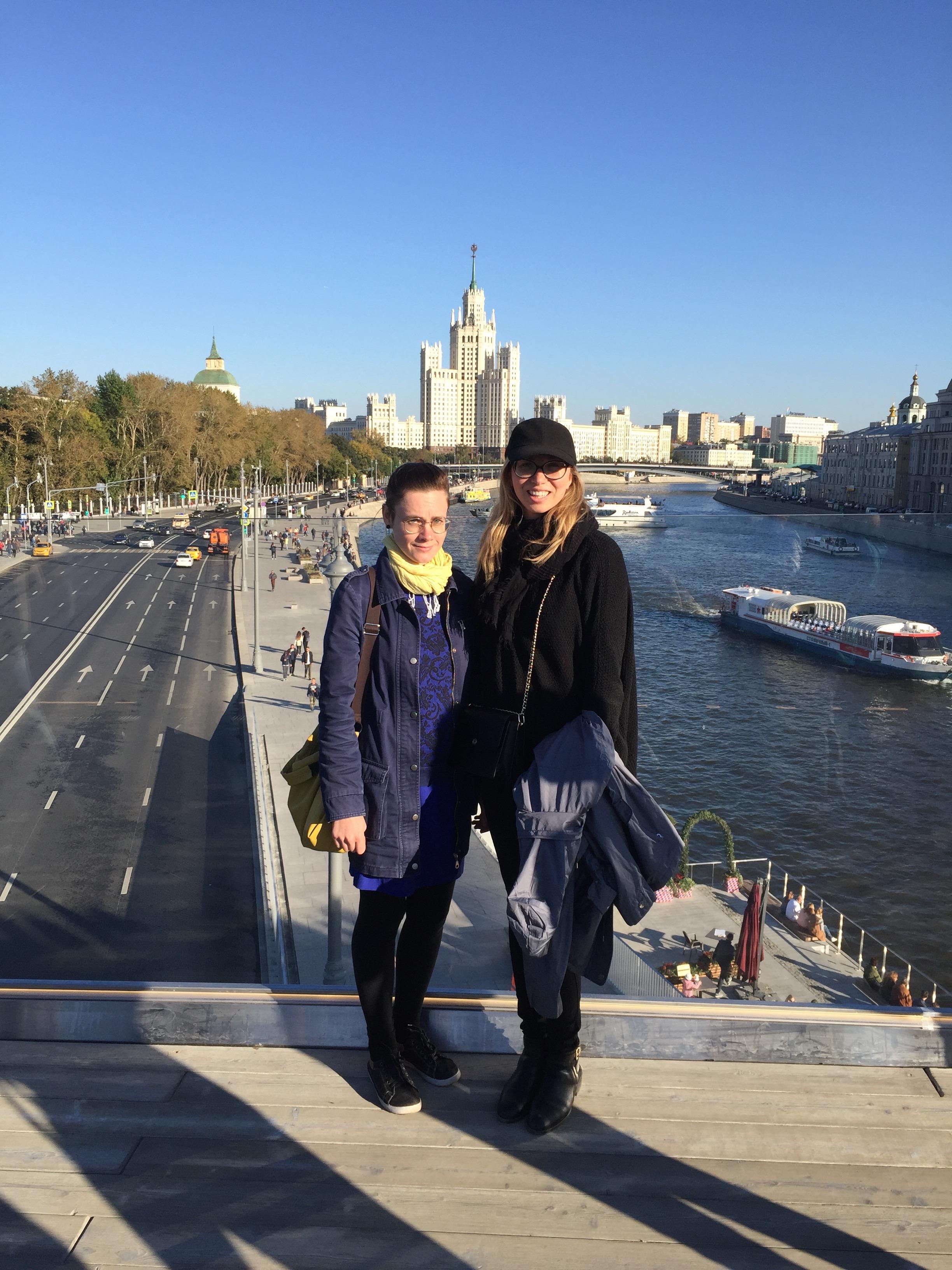 My cousin Katya and I in Park Zaryadye